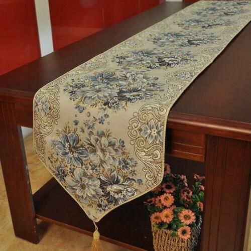 Retro Floral Table Runner Home Kitchen Dining Tea Table Cove