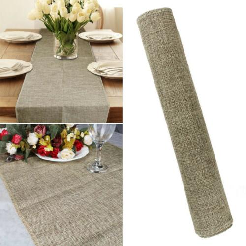 Nature Burlap Table Wedding Party