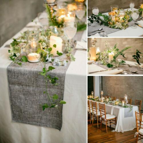 Nature Vintage Burlap Fabric Table Wedding Event Party Decor