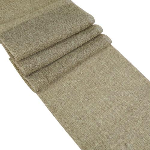 Nature Linen Burlap Table Runner