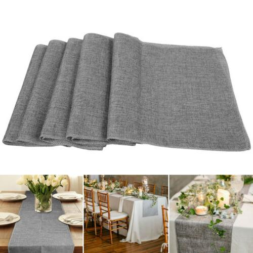 nature linen vintage jute burlap fabric table