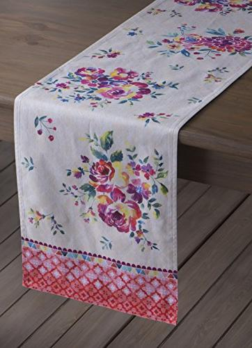 Maison Garden Cotton Table Runner Layer 14.5 Inch by Inch