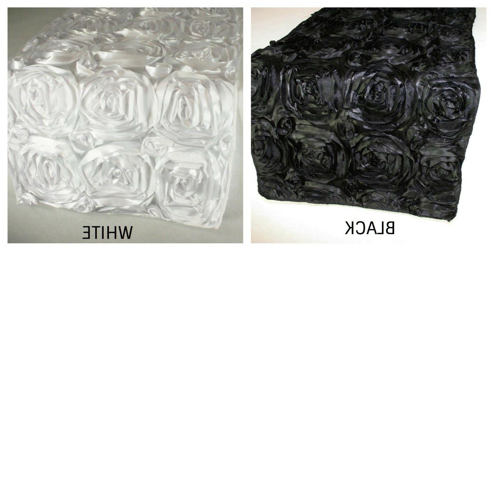 "Rosette Design Table Runner 100% edge 14"" by 108"""