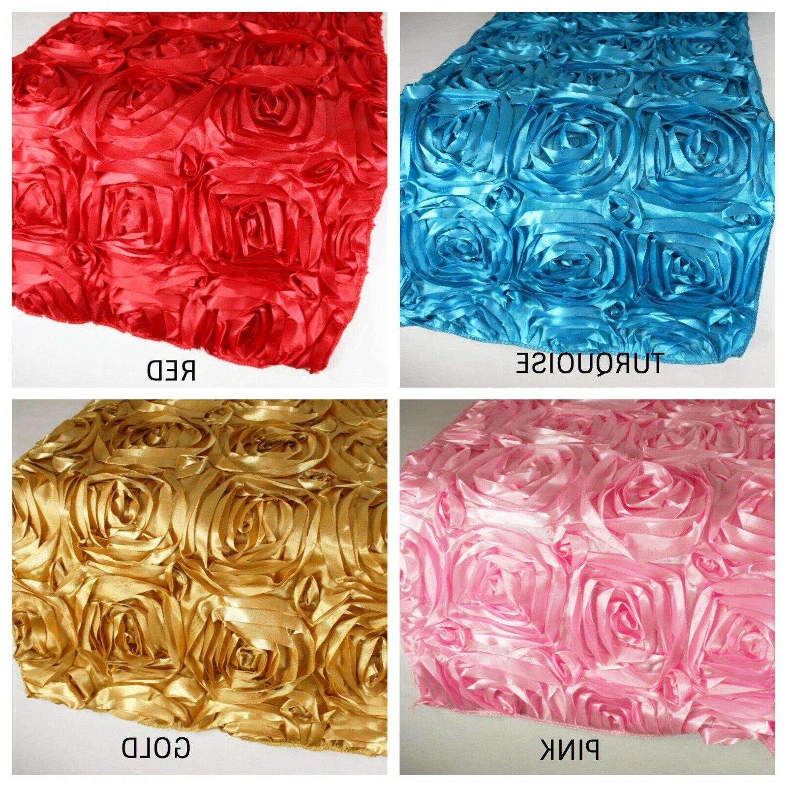 rosette satin design table runner 100 percent