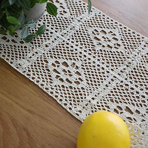 HomeyHo Dining Weddings Decoration Lace Table Room, Inch