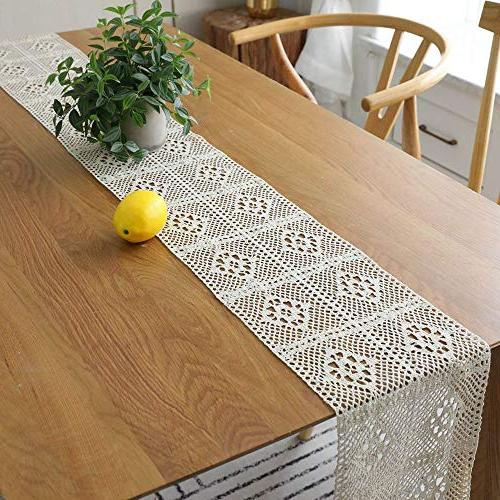 HomeyHo Rustic Cotton Dining Weddings Table Living Room, x Inch