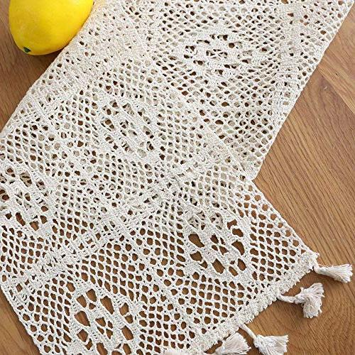 HomeyHo Rustic Cotton Dining Weddings Decoration Lace Table Room, Inch