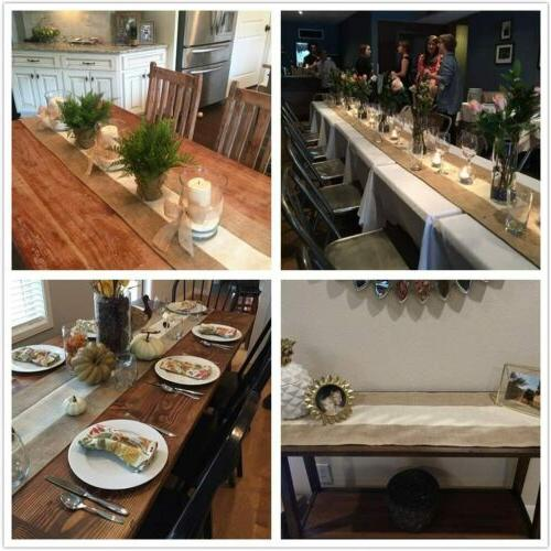 Rustic Burlap Table Runner Runner Woven