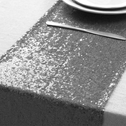 Sequin Table Runner Cloth Party Decor