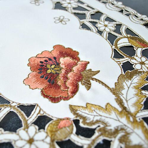 Floral Placemats Embroidered Lace Doilies Mats