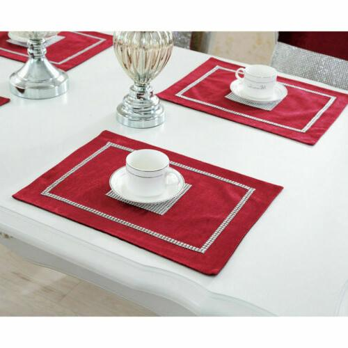 Sparkle Table Runner Cloth Luxury Tasseled Wedding Banquet