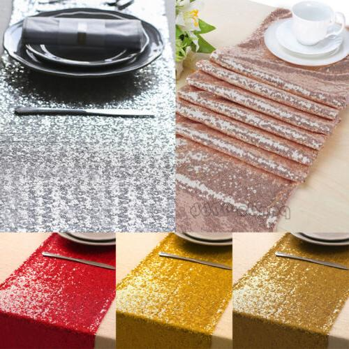 sparkle sequin table runner wedding party banquet