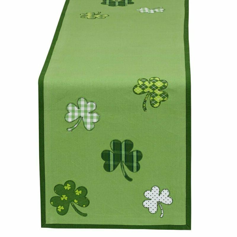 DII St Patrick's Day Clover Table Runner