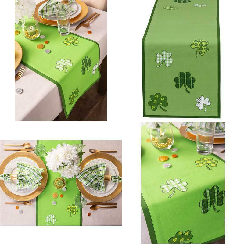 st patrick s day clover table runner