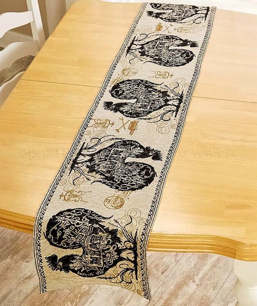 table runner agrarian rooster country farmhouse kitchen