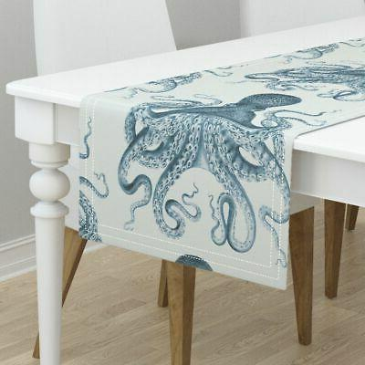 Table Runner Octopus Nautical Vintage Beach Cotton