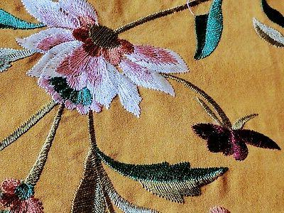 Table Runner Brand New Fine Cotton Embroidered & with A great