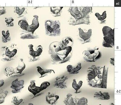Table Runner Animal Vintage Rustic Toile Cotton