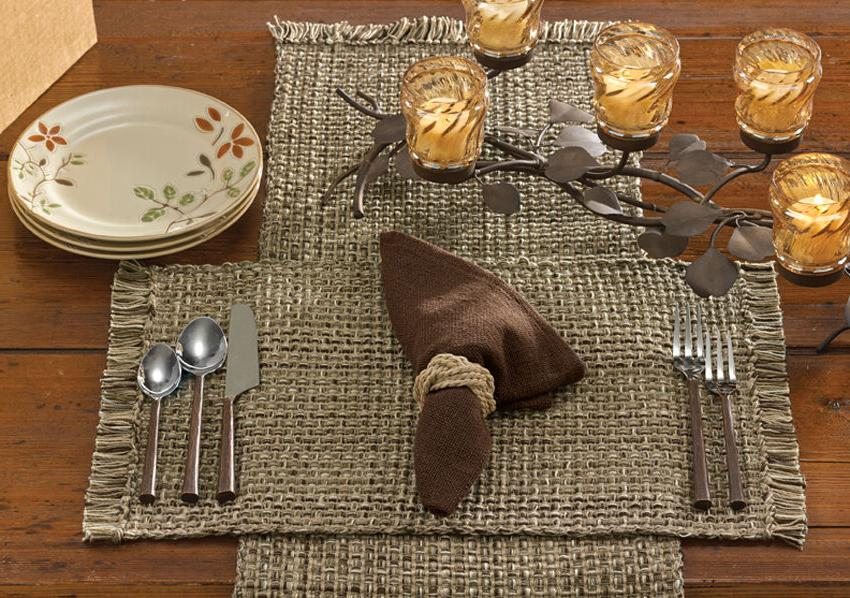 "Table Runner 36"" L - Tweed in Espresso by Park Designs - Kit"