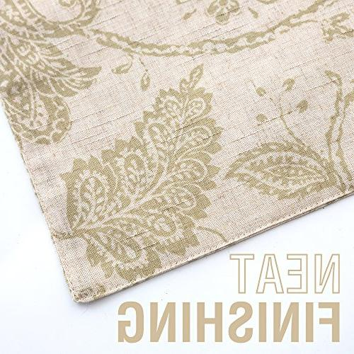 Table 13 x 72 Scroll Patten Burlap Floral Design Sageâ¦