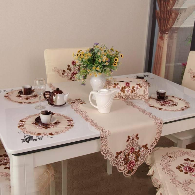 table runner placemat coasters tissue box cover