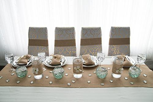"Burlap Table Runners ~ 14"" Yards Roll ~ Burlap Fabric A NO-FRAY with OVERLOCKED Edges Decorations and"
