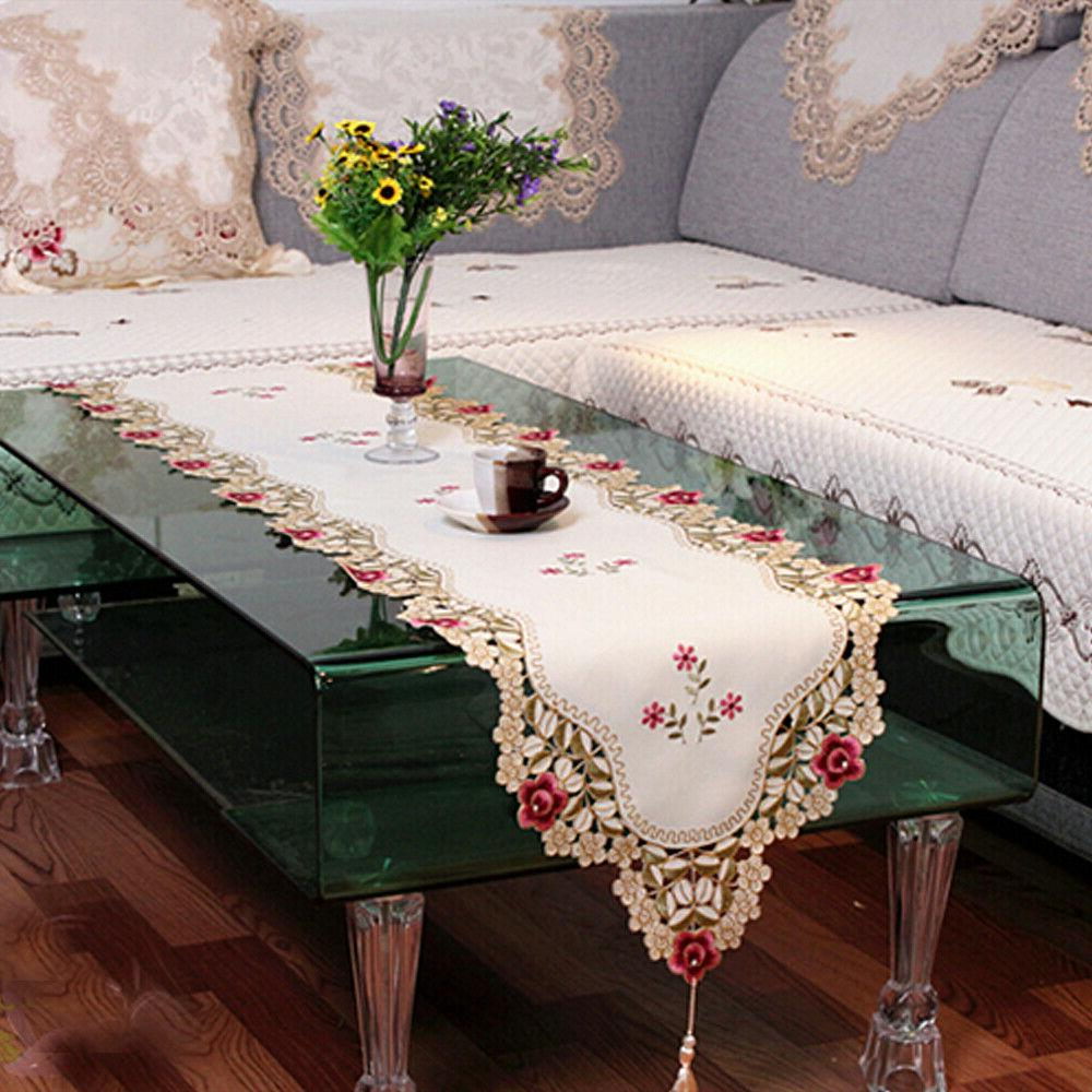Tasseled Table Floral Lace Dining