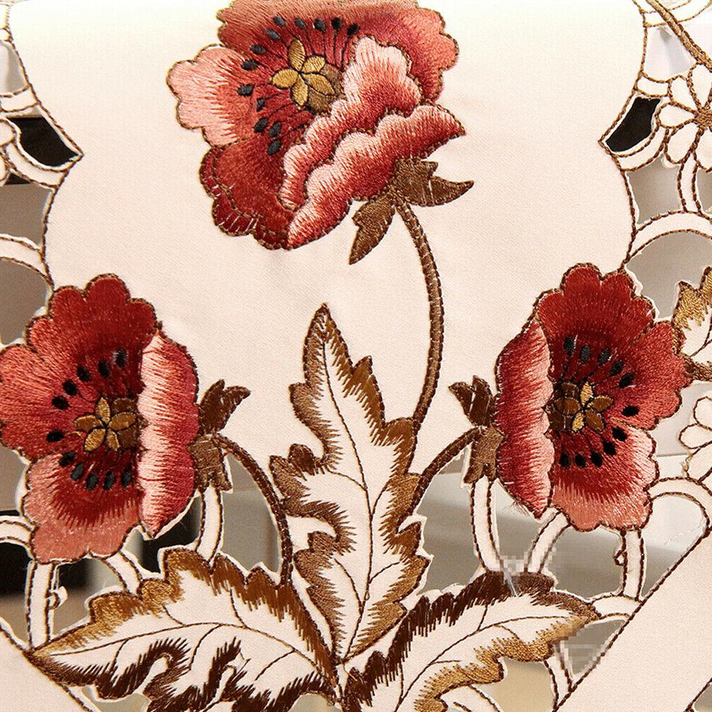 Tasseled Edge Floral Lace Embroidered Dining Decor