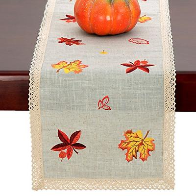GRELUCGO Thanksgiving Table Or Dresser Scarf,