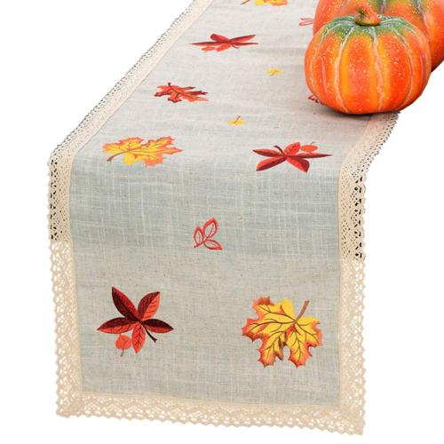 thanksgiving holiday lace table runner or dresser