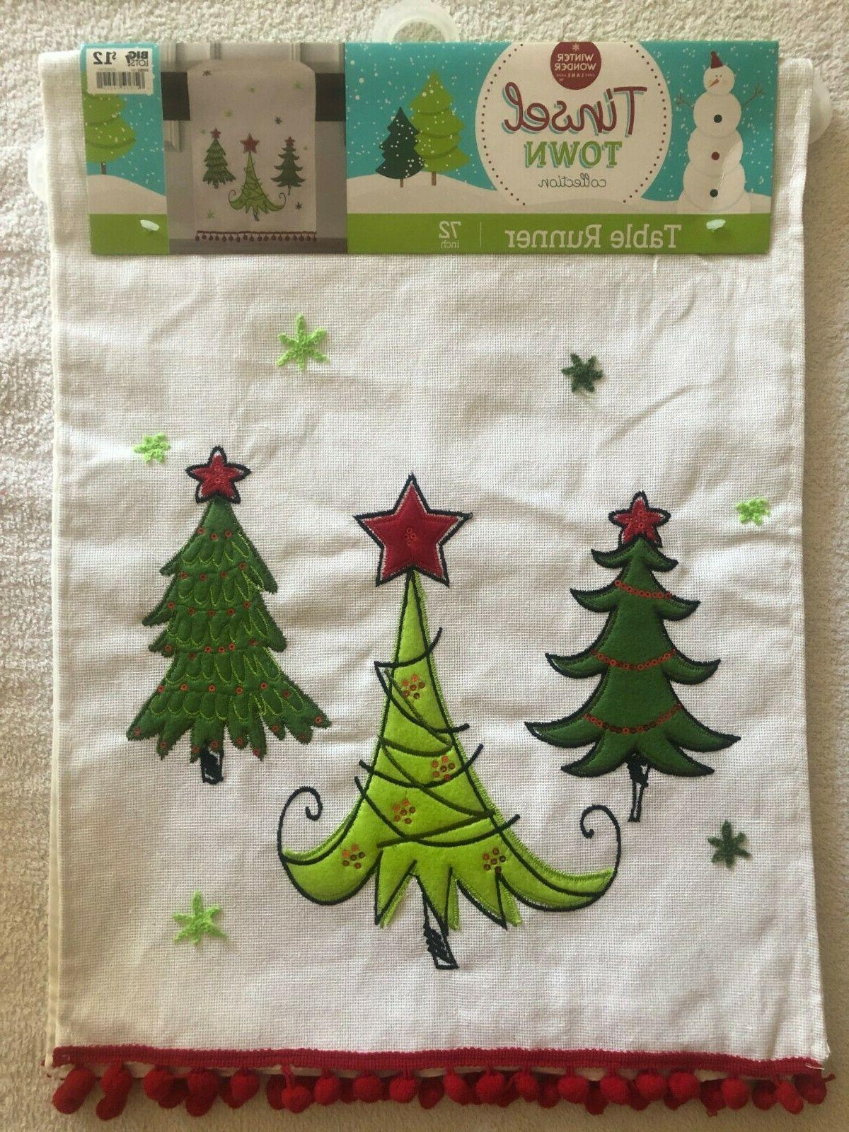 tinsel town 72 inch table runner k60
