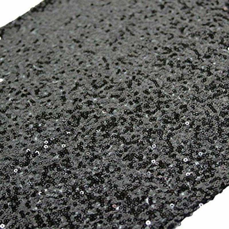trlyc 12 by 108 inch black sequin