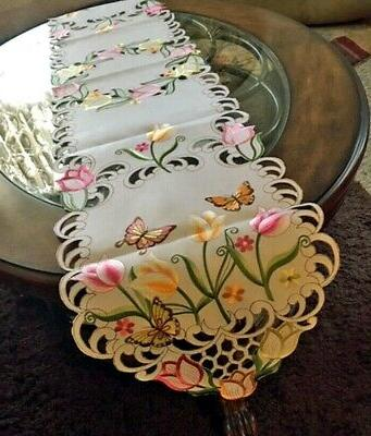 tulip and butterfly easter spring decor table