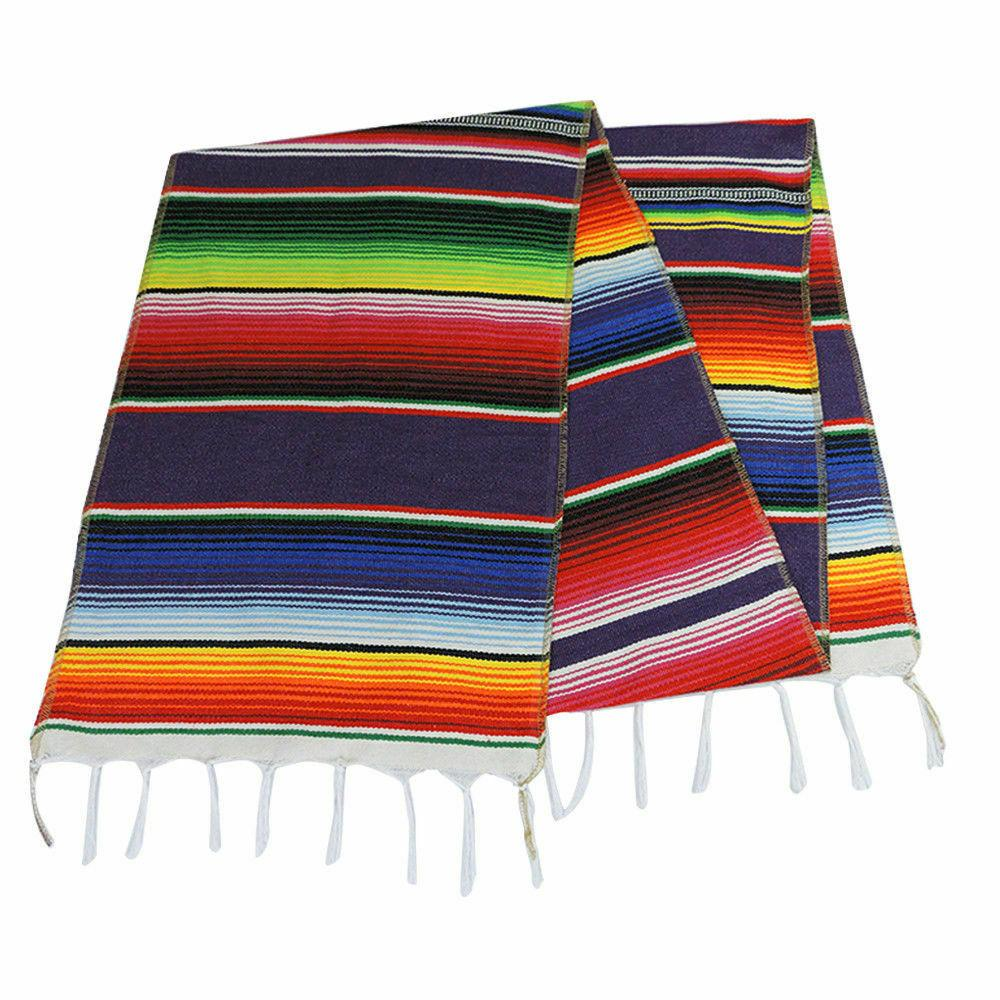 US Mexican Table Runner Cotton Tablecloth Festival Party