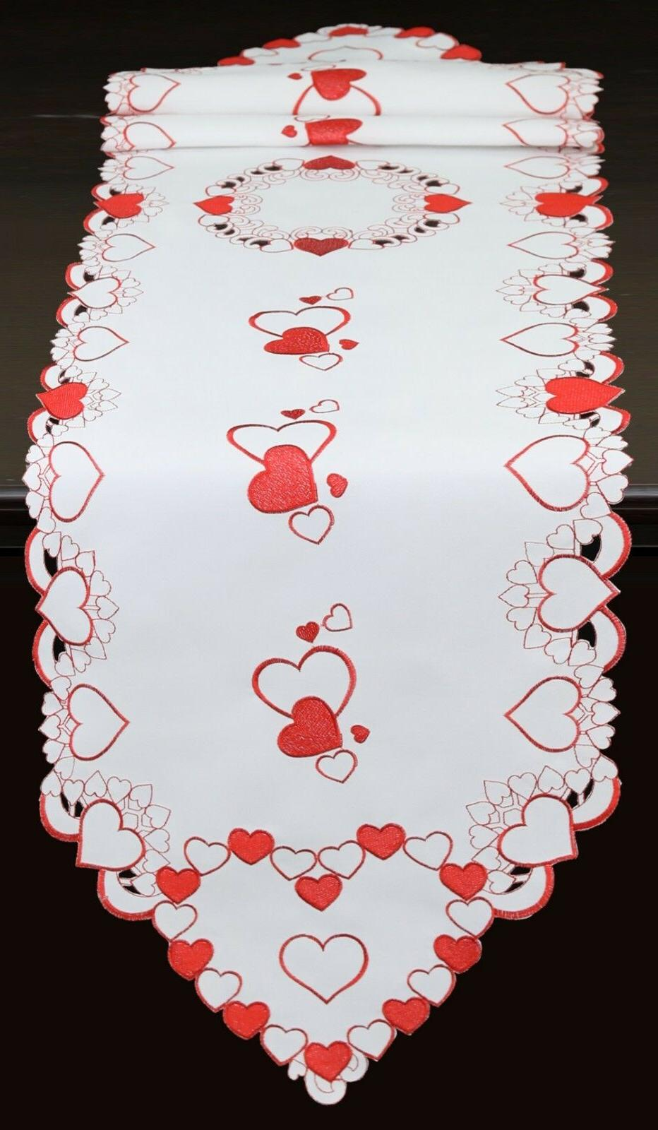 Hearts Placemats Table Cloth Runner Wedding Decor