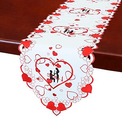 Simhomsen Valentines Day Love Table Runner, Decorative Scarf