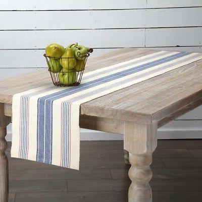 vhc farmhouse table runner cotton decorative tablecloth