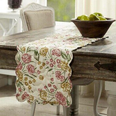 vhc farmhouse table runner decorative tablecloth decor