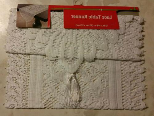 White Lace Runner or Scarf