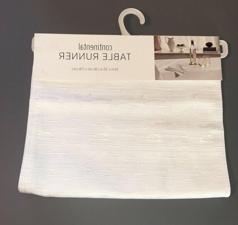white table runner continental collection 14x70 40