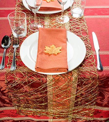 DII Woven Paper Metallic Table Holidays, and Décor Gold