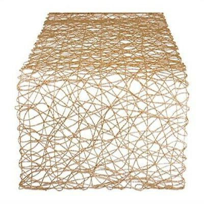 woven paper decorative table runner