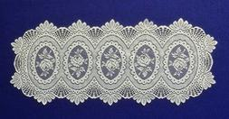 """Lace 36""""Table Runner or Place Mats Ivory Cameo Rose Livingro"""