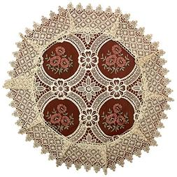 Simhomsen Set of 4 Lace Doilies for Dining Table, Round 18 i