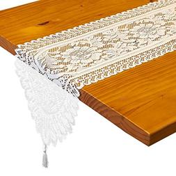 Lace Table Runner - Pack of 2 - Wedding Table Runner with Fl
