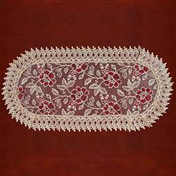 Grelucgo Lace Table Runners Dresser Scarves Oval 13�54 Inc