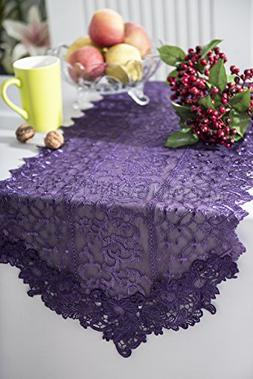 "Wedding Linens Inc.16"" x 108"" Lace Vintage Chantilly Table R"