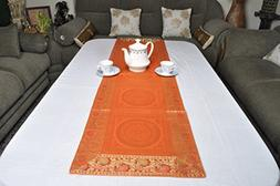 Lal Haveli Traditional Table Runner/Decorative Silk Table Cl