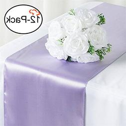 Tiger Chef 12-Pack Lavender 12 x 108 inches Long Satin Table
