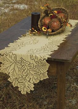 Heritage Lace Leaf 14-Inch by 36-Inch Runner, Goldenrod